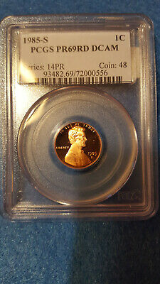 1985-S Lincoln Cent Proof 69 Red DCAM – PCGS #72000556