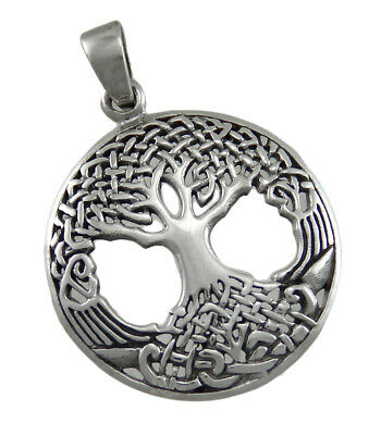 Sterling Silver Druid Tree of Life Pendant For Strength