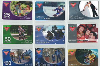 Canadian Tire Gift Cards - Assorted Gift Cards- All Different lot# ctc 1723