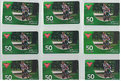 Canadian Tire Gift Cards - FA1-050 Gift Cards- All Different  lot# ctc 1722