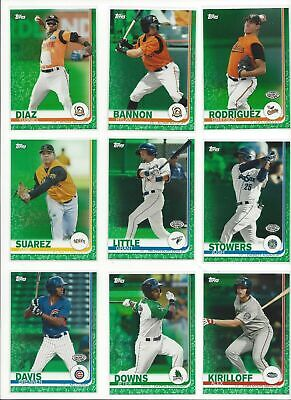 2019 TOPPS PRO DEBUT ( MINOR LEAGUE ) ONLY GREEN PARALLELS  #ed/99   - U PICK!!
