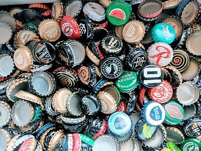 Beer Bottle Caps Crowns 100 Mixed Lot Assorted Micros Domestic Imports