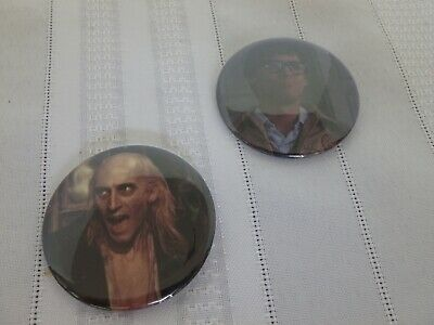 The Rocky Horror Picture Show Brad & Riff Raff Buttons or Pins - new!