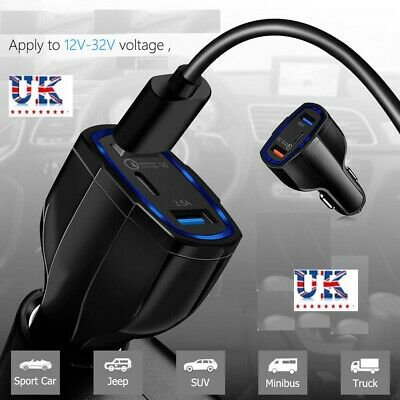 Quick Charge 3.0 In Car Charger Dual USB Port Qualcomm QC Fast Charging Adapter