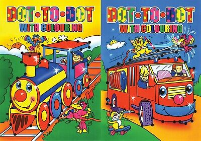 2 x A4 CHILDRENS KIDS ALPHABET /NUMBER DOT TO DOT PUZZLE  BOOK BOOKS COLOURING