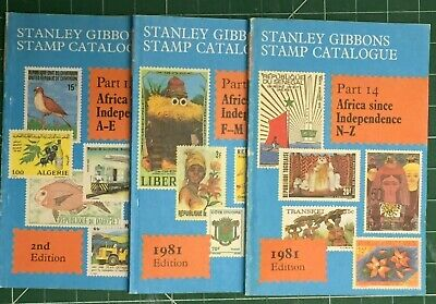 Stanley Gibbons Africa since independence A-E, F-M & N-Z Stamp Catalogues 1981/3