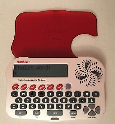 FRANKLIN MERRIAM WEBSTER Spanish English Speaking Dictionary Model