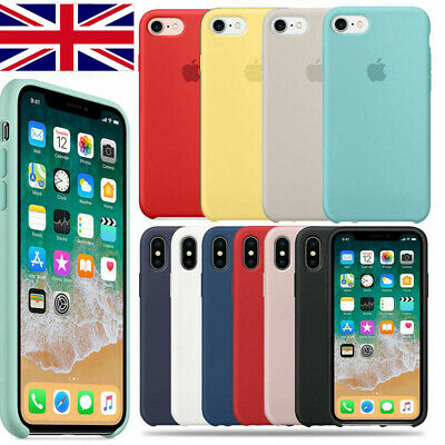 Case for Apple lPhone XS Max XR 8 7 6 Original Genuine Hard Silicone Phone Cover