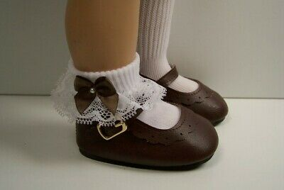 CHOCOLATE BROWN Classic Doll Shoes For Chatty Cathy More Colors Available (Debs)