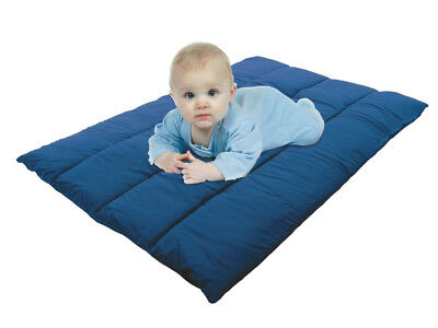 Junippers Padded Fitted Sheet for Travel / Porta Cot - Navy