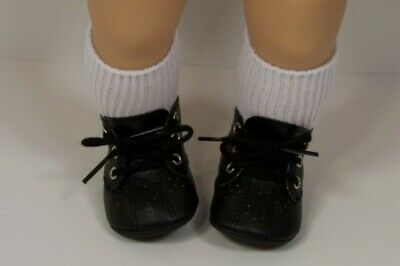 """DARK BROWN Lace-Up /""""BOYS/"""" DOLL SHOES fits American Girl 15/"""" BITTY BABY /& TWINS"""
