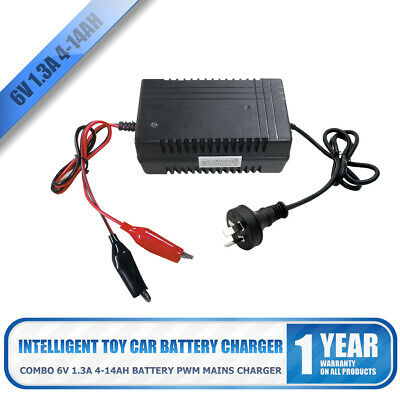 Intelligent Toy Car Battery Charger Combo 6V 1.3A 14ah Battery PWM Mains Charger