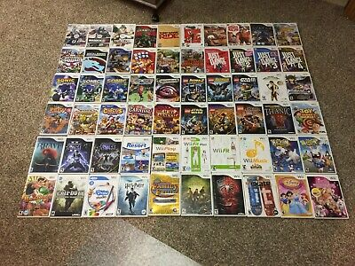 Lot of 60 Nintendo Wii Games - Lego, Disney, Sonic & More NO DOUBLES - FREE SHIP