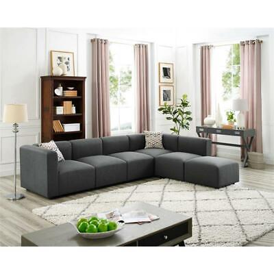 Amazing Gray Sectional Sofa With Ottoman Local Pickup In Columbia Machost Co Dining Chair Design Ideas Machostcouk