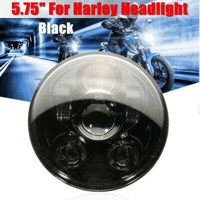 5-3/4 5.75'' 45W Motorcycle Projector LED Headlight Hi/Lo For Harley Davidson