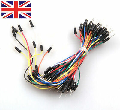 65Pcs Flexible Solderless Male - Male Breadboard Jumper Cable Wires uk
