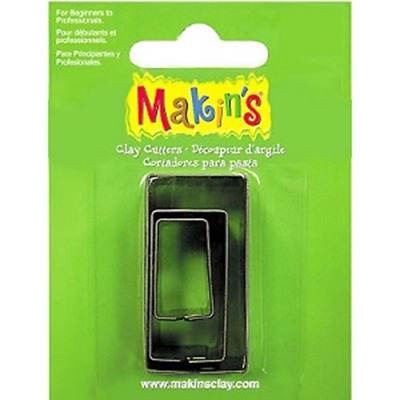 Makins Clay & Cookie Cutters - RECTANGLE shape (Set of 3) cake Fondant