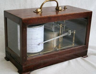 Vintage Casella Cased Barograph with Gluk Movement -Working.