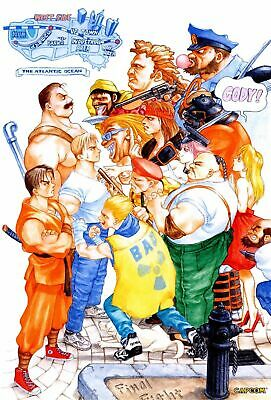 187707 Final Fight Game MAME Arcade NeoGeo Snes PS4 Wall Print Poster UK