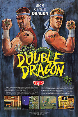 187669 Double Dragon Retro Game MAME Arcade NES Wall Print Poster UK