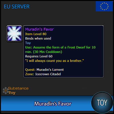 Muradin's Favor Toy | All Europe Server | WoW Warcraft