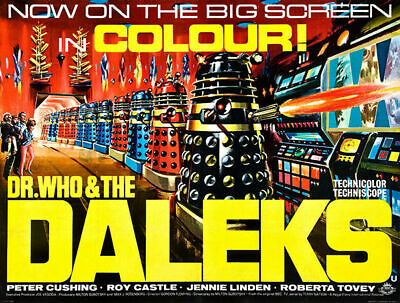DR WHO DALEKS INVASION OF EARTH  B/&W PHOTO STILL A3 POSTER  REPRINT