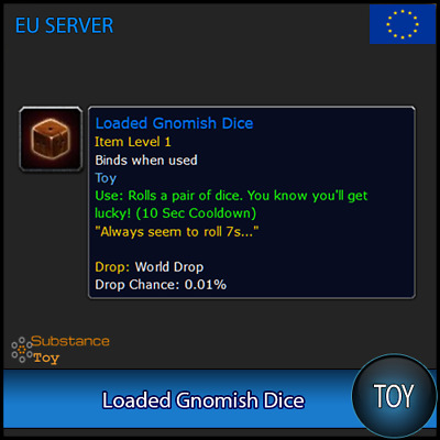Loaded Gnomish Dice Toy | All Europe Server | WoW Warcraft