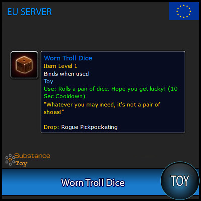 Worn Troll Dice Toy | All Europe Server | WoW Warcraft