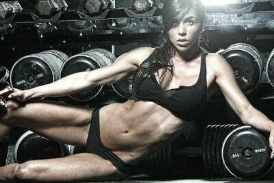 192265 Sexy Girl Bodybuilding Fitness Motivational Wall Print Poster UK