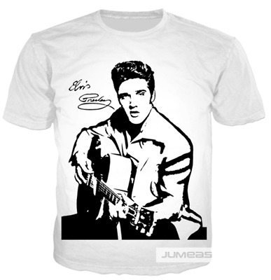 Fashion Elvis Presley  3D print Funny Casual T Shirt Men Women Short Sleeve Top
