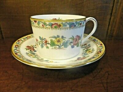 "EXCELLENT Coalport ""MING ROSE"" straight sided TEA CUPS AND SAUCERS"