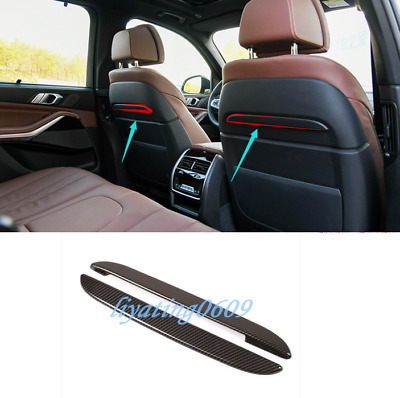 2PCS Carbon Fiber Style Rear Seat Back Decorative Strip Trim For BMW G05 X5 2019