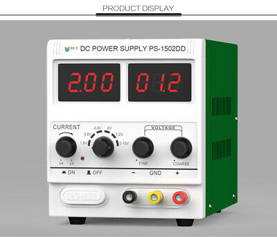1502DD 15V 2A Adjustable Variable DC Power Supply for