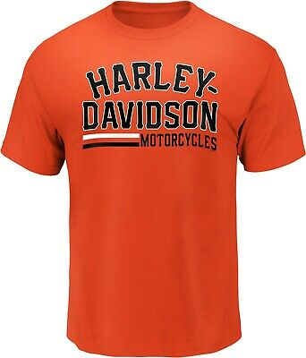 Harley-Davidson Fanatics Valuable Parts Tee Gr. XXL - Orange, Herren T-Shirt