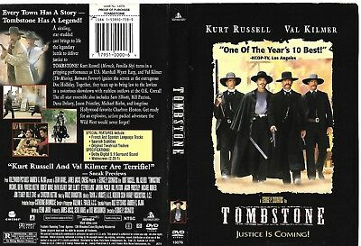 Tombstone (Authentic OOP 1997 DVD, First Print) Kurt Russell, Val Kilmer