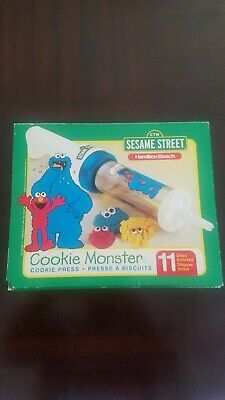 1998 Hamilton Beach Sesame Street Cookie Monster Cooke Press - COMPLETE