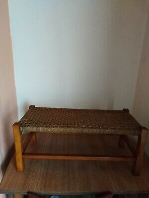 Retro Double Wicker Stool