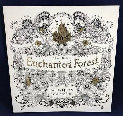 Enchanted Forest : An Inky Quest and Coloring Book by Johanna Basford (2015,...