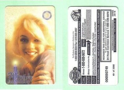 PHONE CARD - MARILYN MONROE - EDITION LIMITED - 49 of 3000 - UNUSED BUT EXPIRED