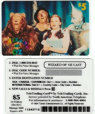 WIZARD OF OZ - Judy Garland - CAST - UNUSED FOR COLLECTION - RARE - expires 4/95