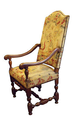 Mid 18th Century Louis XIII Style Oak Needlepoint Armchair