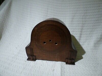 Antique Wooden Art Deco Mantle Clock Case for Restoration