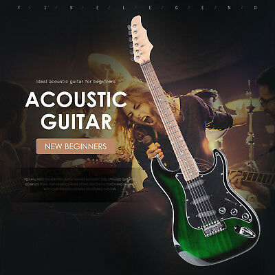 """Full Size 39"""" Electric Guitar with 15w Amp, Case & Accessories Pack Beginner"""