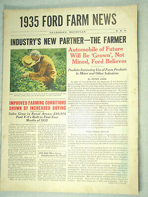 1935 FORD V/8 FARM NEWS - Advertising for Ford Cars and Trucks