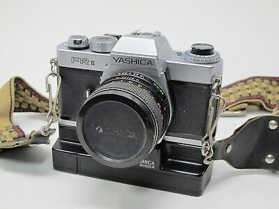 Yashica FR II 35mm Film Camera with Yashica 50mm F1.9 DSB Lens, Winder, Tested