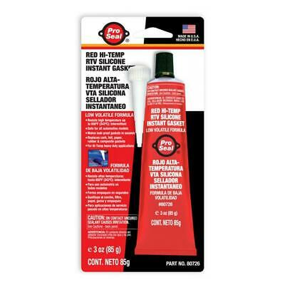 Pro Seal Red Hi-Temp RTV Silicone Instant Gasket 85g Tube