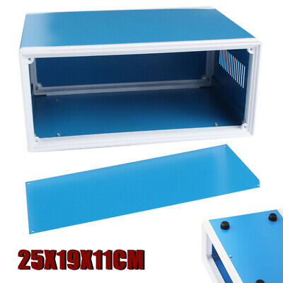 250*190*110mm Blue Metal Electronic Enclosures DIY Project Switch Junction Box