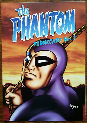 RARE THE PHANTOM Telstra $5 Phonecard No1 Limited Edition Signed Glenn Ford NEW!