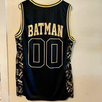 cff276c3415 BATMAN REVERSIBLE BLACK Yellow Basketball Sleeveless Jersey Tank Top ...