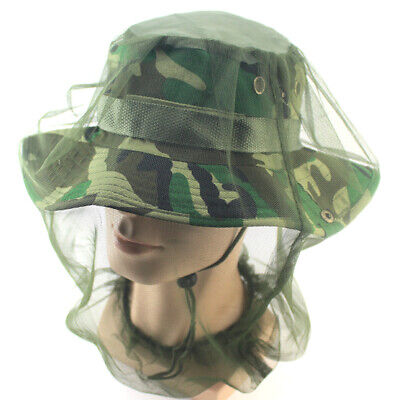 Anti Mosquito Bug Bee Insect Mesh Hat Bee Bug Mozzie Protector Outdoor FishingJA